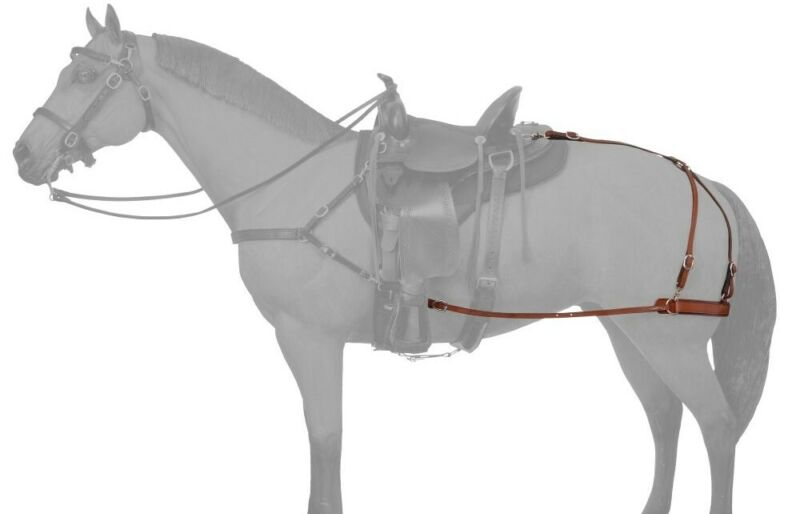 Leather Breeching Attaches to Saddle & Girth - Keeps Saddle from Slipping Foward