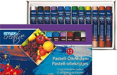 12er Pastell - Ölkreide Ölkreiden Packung Kreide Pastellkreide