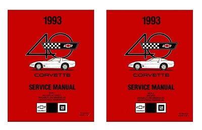 1993 Corvette Shop Service Repair Manual Book