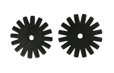 Western Spur Rowels 1 3/4 Inch Large Black 16pt Sold In Pair Cowboy Accessories - Cowboy Accessories