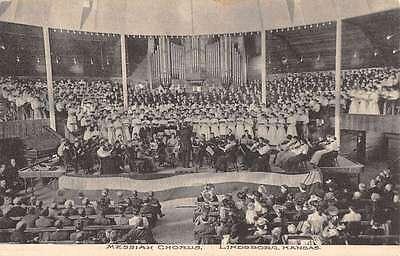 Lindsborg Kansas Messiah Chorus Theatre Antique Postcard K57601