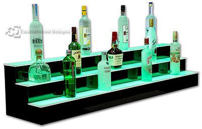 60 3 Step Tier Led Lighted Shelves Illuminated Liquor Bottle Bar Display Stand