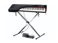 Keyboard / Synthesizer , Accessory Kit - Sustain Foot Pedal + Keyboard Stand + Dust Cover.