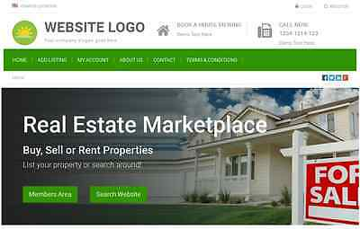 Real Estate Marketplace - Website For Sale Hosting Included