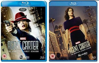 Agent Carter Complete Series Seasons 1-2 Blu-Ray Set Bundle BRAND NEW Free (Ray Set)