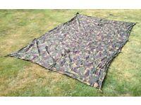 British army DPM waterproof shelter sheet / basha