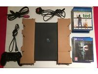 PlayStation 4 PS4 slimline 500gb 4 games 5 blue ray movies