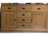 Free standing Kitchen Cupboard and drawers. A sideboard dresser in light oak