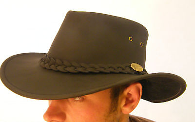 New Leather Kangaroo Bush Hat Brown Or Black Small Medium Large Xlarge Xxl