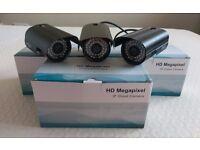 x3 Wireless CCTV Security Network WiFi Camera - Indoor/Outdoor Waterproof