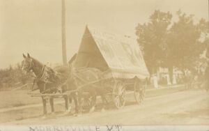 MORRISVILLE VERMONT LAMOILLE FAIR AD ON CART RPPC Real Photo Postcard