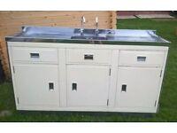 Original 1950's Millersdale Kitchen Unit with sink. Retro.