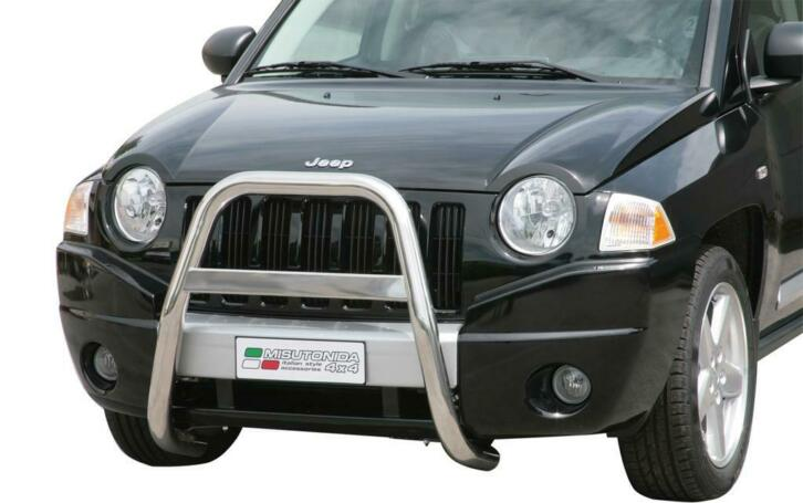 Pushbar | Jeep | Compass 06-11 5d suv. | RVS rvs zilver High