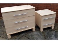 chest 3 drawers + 2 drawers. wheeled runners. Very good condition & quality. can sell separately