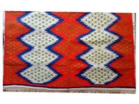 Hand made rug - Zigzag pattern
