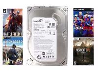 14 Installed Games/New 500GB HDD Seagate 3.5inch Sata Hard Drive/WIN 10 - Bargain Price!