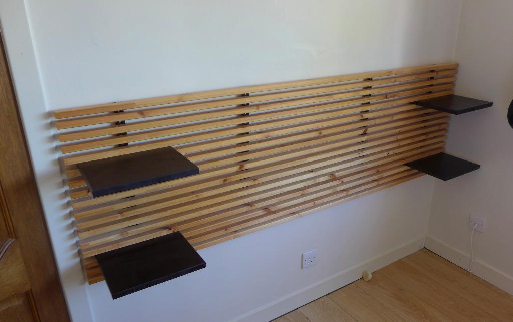 ikea black double headboard buy sale and trade ads. Black Bedroom Furniture Sets. Home Design Ideas