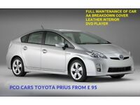 PCO CARS TO RENT FROM £95 TOYOTA PRIUS UBER, CAB, TAXI READY