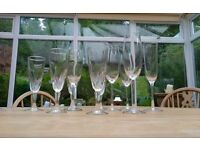 Champagne flutes, mixed