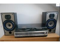 Sanyo music centre with B & W speakers