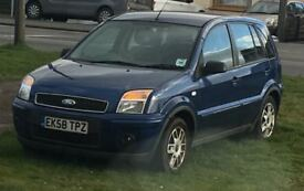 Ford Fusion Zetec Climate 1.4 5dr Hatchback, Blue