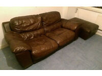 DFS Leather Sofa - FREE, MUST BE COLLECTED TODAY