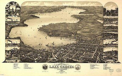 WISCONSIN VINTAGE PANORAMIC MAPS COLLECTION ON CD