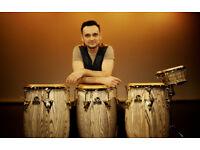 Cajon, Congas, Bongos, Djembe, Percussion Lessons Online