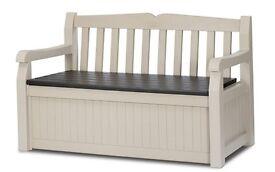 Keter Eden Garden Storage Bench, New Boxed