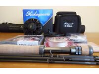 NEW Shakespeare Sigma #7 Fly Rod, #7/8 Reel + Spare Spool, Line, Backing Line, Dry Flies and Loops
