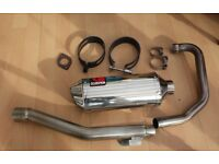 SCORPION FACTORY OVAL STAINLESS STEEL EXHAUST FOR A HONDA CBF125