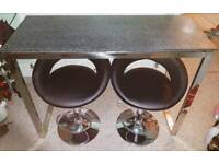 John Lewis bar table and two stools (not John Lewis) in Excellent Condition. Will dismantle table.