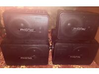 Phonic Speakers set of 4 Indoor and Outdoor Use.