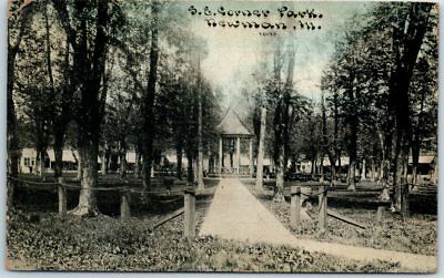 "Newman, Illinois Postcard ""S.E. Corner Park"" C.U. Williams Photoette 1913 Cancel for sale  Boise"