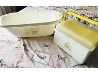 Baby bath & bath box from mothercare