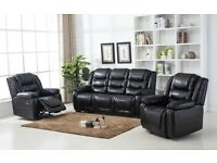 New black or brown leather suite free delivery
