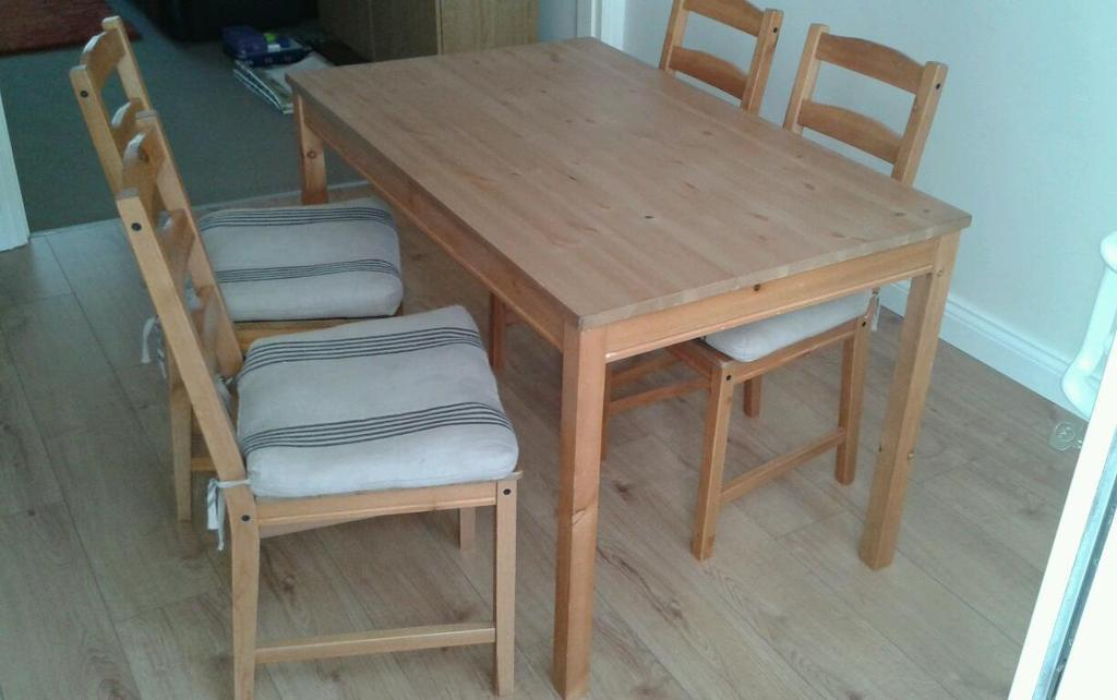 Ikea Jokkmokk Antique Stain Table And For Chairs With