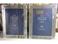 TWO A4 GLASS PICTURE/PHOTO FRAMES
