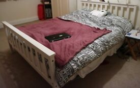 Double Bed White Frame