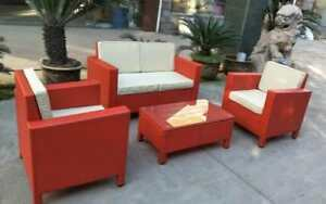 NEW 4 PCS OUTDOOR FURNITURE SET RED POPIN RED CHEAPEST IN TOWN