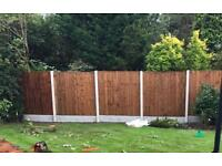 🐞 High Quality Wooden Tanalised Garden Fence Panels > Various Sizes & Styles