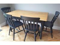Gorgeous farmhouse style table and four chairs