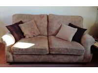 Three seater sofa, armchair and foot rest in good condition and free to good home
