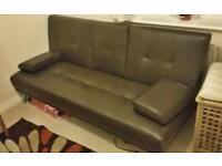 Sofa bed-leather style