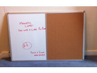 Magnetic Dry wipe and pin combi notice board 900 x 600mm (Approx 3 x 2ft) New and unused