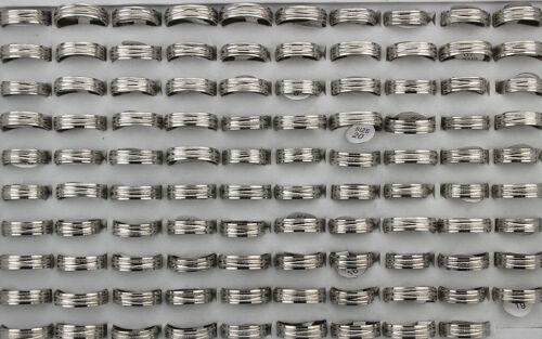 50pcs Wholesale Lots Stainless Steel Rings Women Men