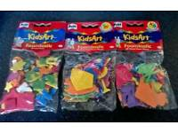 joblot 45 x packs foam shapes NEW