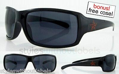 Dark Black Lens Rock (Mens Black Dark Lens Eazy E Sunglasses Rock Star Surfer Skater Biker X Sports UV )