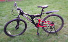 Muddyfox Recoil 26 mountain adult / teenager bike, black/red, double suspension