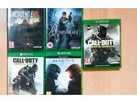 SOLD Xbox one 5 games